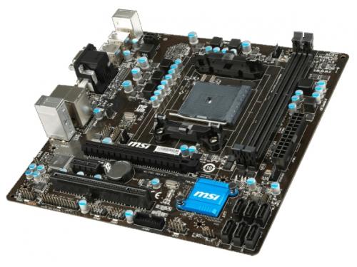Материнская плата MSI A88XM-E35 V2 Soc-FM2+ AMDA88X DDR3 mATX AC`97 5ch GbLAN SATA6 RAID VGA+DVI+HDMI, вид 1