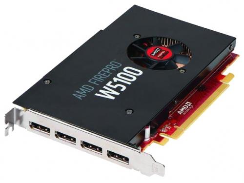 Видеокарта профессиональная AMD FirePro W5100 4GB PCIE 3.0 (x16) 4xDP, вид 1