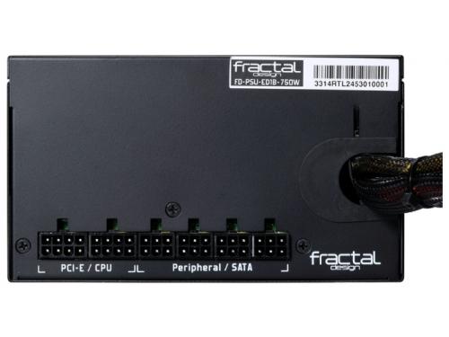 Блок питания Fractal Design 750W Edison M, 120mm, APFC FD-PSU-ED1B-750W-E, вид 4