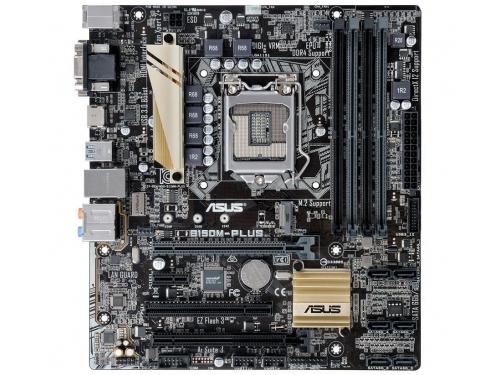 Материнская плата ASUS B150M-PLUS (mATX, LGA1151, Intel B150, 4x DDR4), вид 1