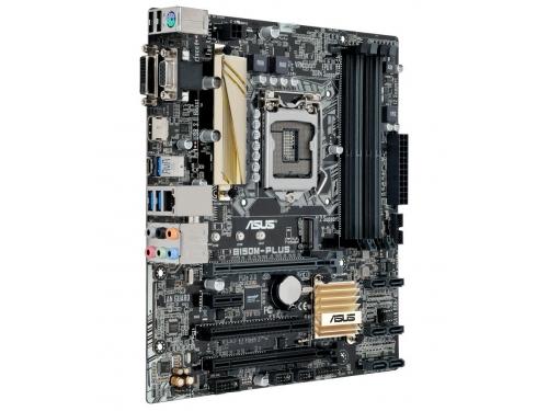 Материнская плата ASUS B150M-PLUS (mATX, LGA1151, Intel B150, 4x DDR4), вид 2