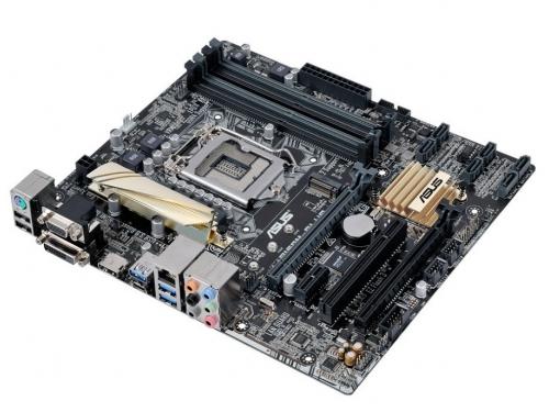 Материнская плата ASUS B150M-PLUS (mATX, LGA1151, Intel B150, 4x DDR4), вид 3