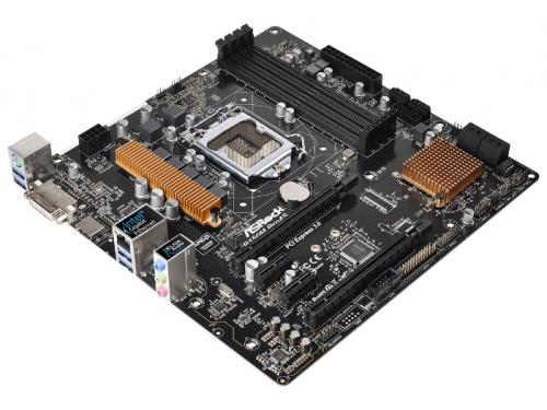 Материнская плата ASRock B150M PRO4S Soc-1151 B150 DDR4 mATX SATA3  LAN-Gbt USB3.0 DVi/HDMI, вид 1