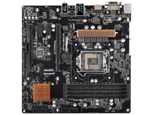 Материнская плата ASRock B150M PRO4S Soc-1151 B150 DDR4 mATX SATA3  LAN-Gbt USB3.0 DVi/HDMI, вид 2