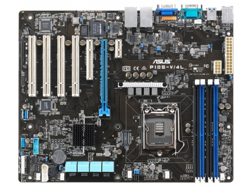 Материнская плата ASUS P10S-V/4L Soc 1151 SP XEON, Intel C236, ATX, 4DIMM DDR4, вид 1
