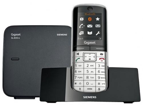 Радиотелефон Gigaset SL400A Серебристый и Чёрный, вид 1