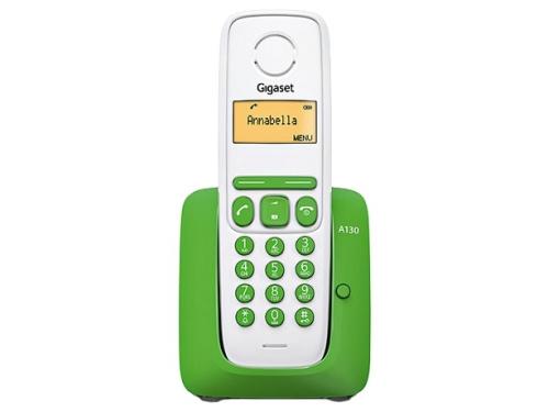 Радиотелефон Gigaset A130 зеленый с белым, вид 1