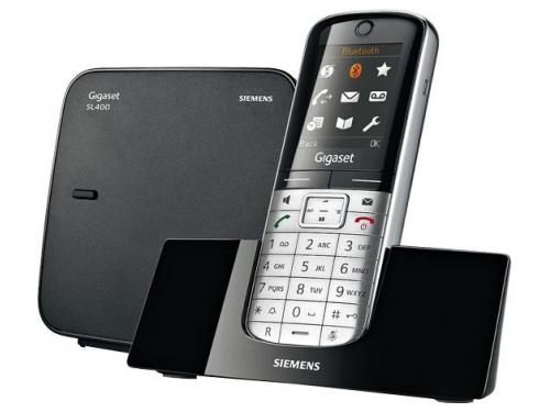 Радиотелефон Gigaset SL400, Серебристый и Чёрный, вид 1