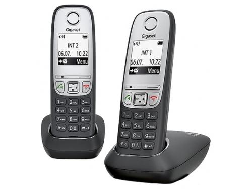Радиотелефон Gigaset A415 DUO, Чёрный, вид 1