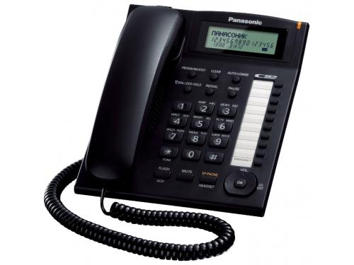 Проводной телефон Panasonic KX-TS2388RUB, Чёрный, вид 1