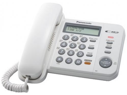 Проводной телефон Panasonic KX-TS2358RUB Черный, вид 2