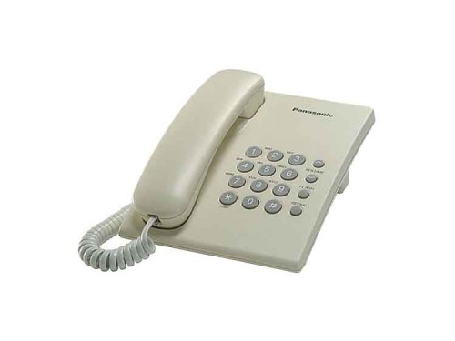 Проводной телефон Panasonic KX-TS2350RUJ, Бежевый, вид 1