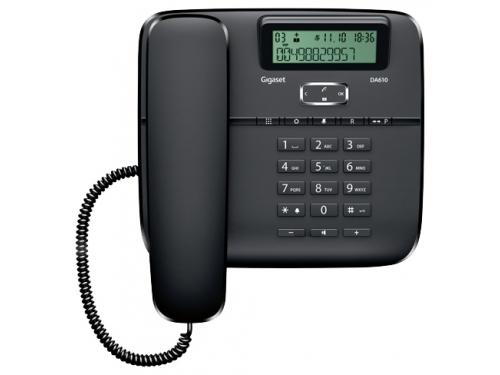 Проводной телефон Gigaset DA610, Чёрный, вид 1