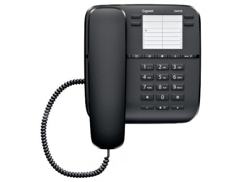 Проводной телефон Gigaset DA410, Чёрный, вид 1