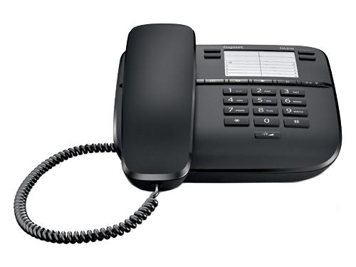 Проводной телефон Gigaset DA310, Чёрный, вид 1