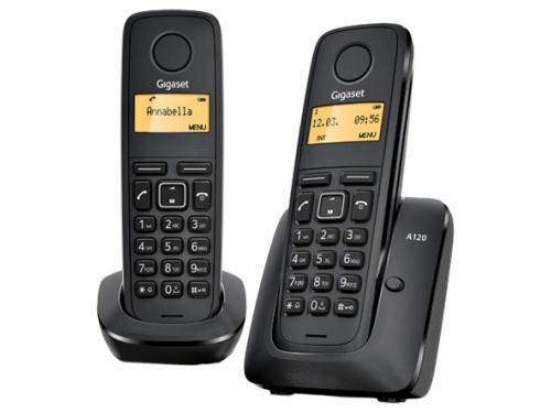 Радиотелефон Gigaset A120 DUO Чёрный, вид 1