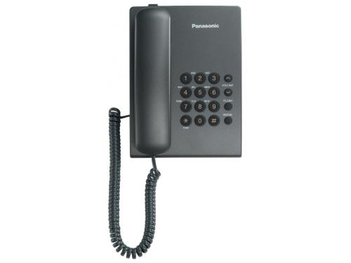 Проводной телефон Panasonic KX-TS2350RUT Темно-серый, вид 1