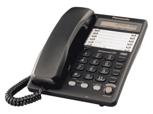 Проводной телефон Panasonic KX-TS2365RUB Чёрный, вид 1