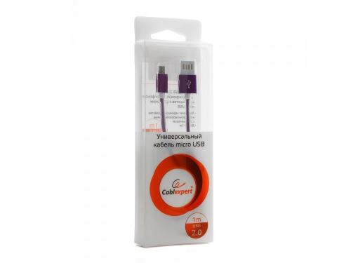 Кабель / переходник Gembird USB 2.0 Cablexpert 1м ( CCB-mUSBp1m) фиолетовый металлик, вид 1