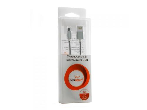 Кабель / переходник для телефона Gembird USB 2.0 Cablexpert 1 м ( CCB-mUSBs1m) серебристый металлик, вид 1