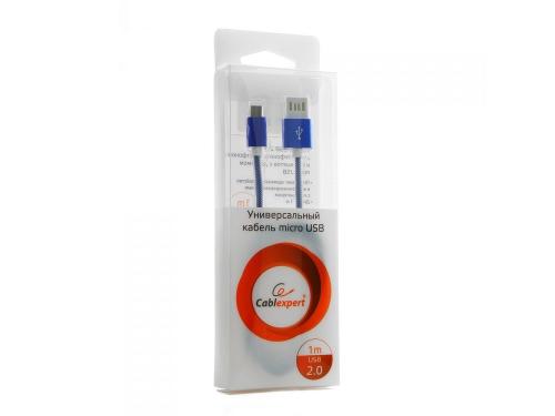 Кабель / переходник Gembird USB 2.0 Cablexpert 1м (CCB-mUSBb1m) синий металлик, вид 2