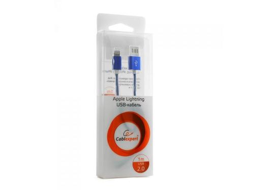 Кабель / переходник Gembird USB 2.0 Cablexpert (CCB-ApUSBb1m) 1м синий металлик, вид 2