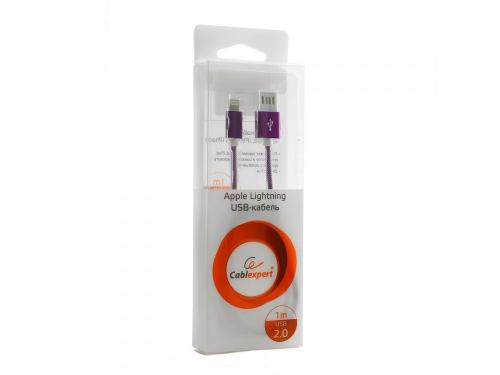 Кабель / переходник Gembird USB 2.0 Cablexpert (CCB-ApUSBp1m) 1 м фиолетовый металлик, вид 2