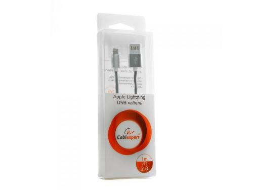 Кабель / переходник Gеmbird USB 2.0 Cablexpert (CCB-ApUSBs1m) 1м серебристый металлик, вид 2