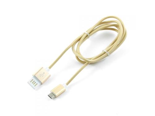 Кабель / переходник Gembird USB 2.0 Cablexpert 1м (CCB-mUSBgd1m) золотой металлик, вид 1