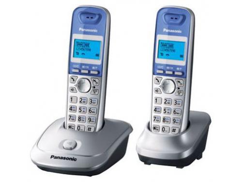 Радиотелефон Panasonic KX-TG2512RUS серебристый, вид 1