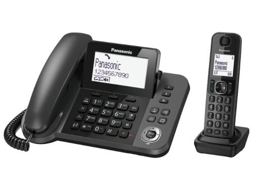 Радиотелефон Panasonic KX-TGF310RUM серый металлик, вид 1