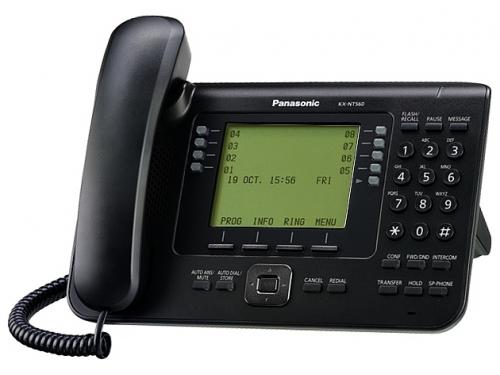 Проводной телефон IP Panasonic KX-NT560RU-B, вид 1