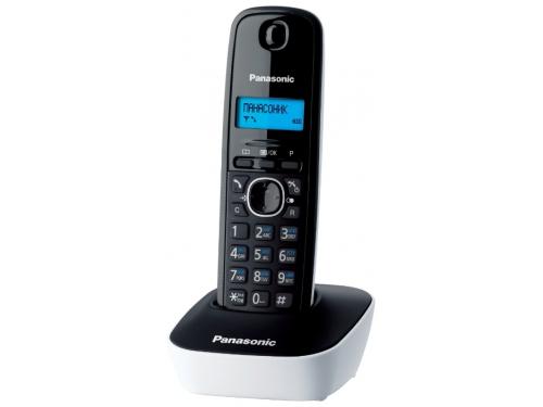 Радиотелефон DECT Panasonic KX-TG1611RUW белый/черный, вид 1