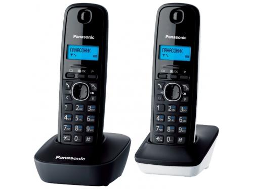 Радиотелефон Panasonic KX-TG1612RU1 тёмно-серый с белым, вид 1
