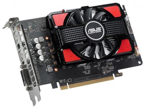 Видеокарта Radeon Asus Radeon RX 550 2Gb 128Bit DDR5 HDMI/DP RX550-2G, вид 3