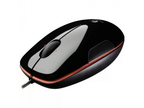 Мышь Logitech LS1 Laser Mouse, черно-оранжевая, вид 1