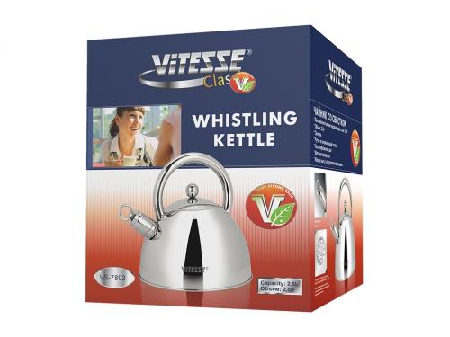 Чайник для плиты Vitesse VS-7802 со свистком, вид 2