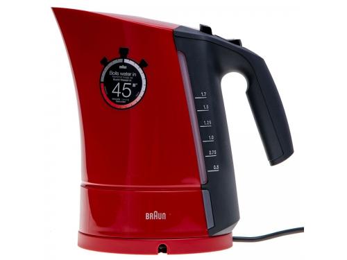 Чайник электрический Braun WK 300, красный, вид 3