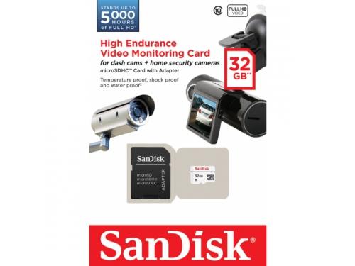 Карта памяти SanDisk MicroSDHC 32Gb class10 +SD адаптер, вид 2