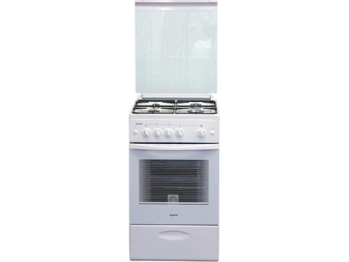 Плита Лысьва ГП 400 МС-2у белая, со стеклянной крышкой, вид 1