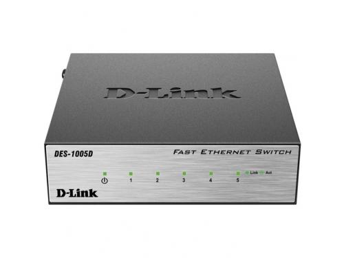 Коммутатор (switch) D-Link DES-1005D/O2B, вид 1
