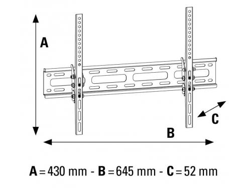Кронштейн Hama H-108717 (32 - 65'', до 65 кг, наклон), XL, вид 4