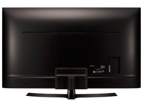 телевизор LG 49UJ634V, коричневый, вид 3