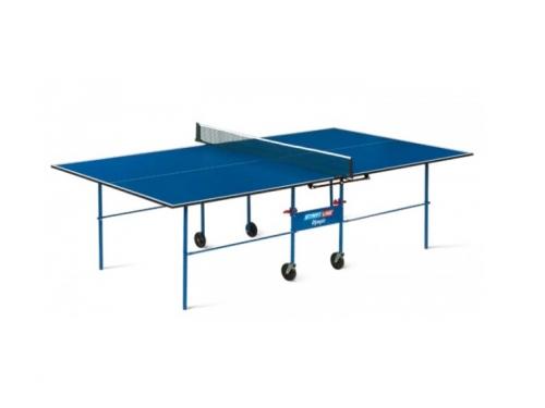 Стол теннисный Start Line Olympic с сеткой синий, вид 1