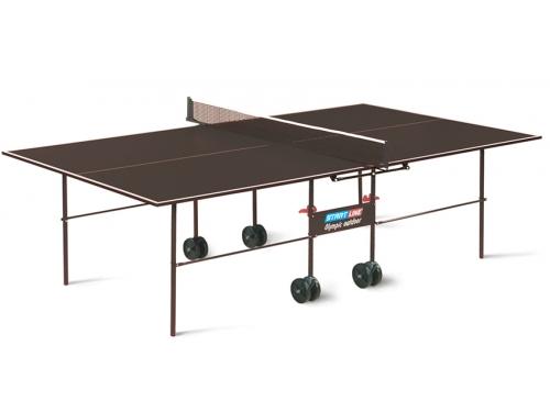 Стол теннисный Start Line Olympic Outdoor с сеткой коричневый, вид 1