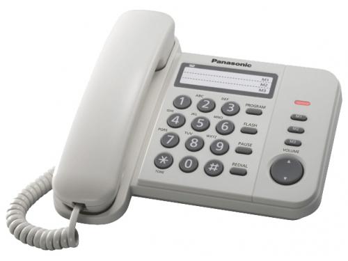 Проводной телефон Panasonic KX-TS2352RUW, вид 1