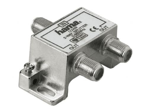 Разветвитель для ТВ-кабеля Hama H-122496 (на 2 ТВ, коаксиальный), вид 1