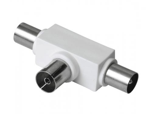 Разветвитель для ТВ-кабеля Hama H-43158 (на 2 ТВ, коаксиальный), вид 1