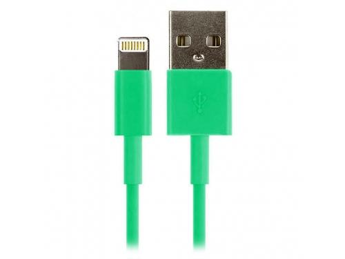 Зарядное устройство Дата-кабель Smartbuy USB - 8-pin для Apple, цветные, длина 1,2 м, зеленый (iK-512c green)/500, вид 1