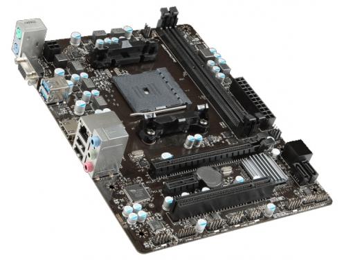 Материнская плата MSI A68HM-E33 V2 Soc-FM2+ AMD A68H DDR3 mATX AC'97 5ch GbLAN VGA+HDMI, вид 2
